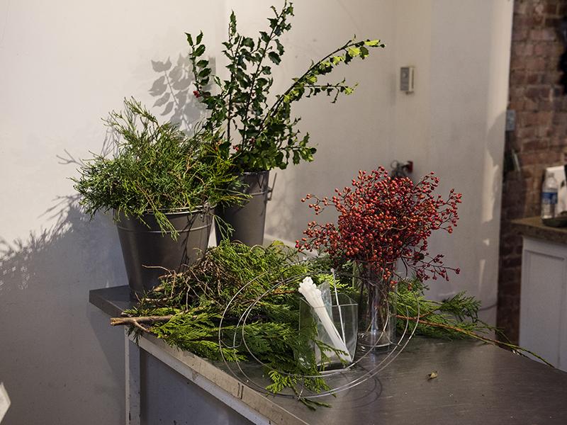 DIY: Fresh winter wreath