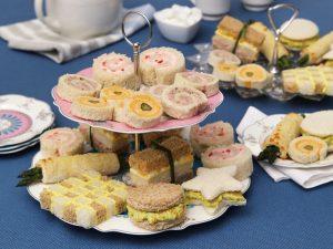 A plate of tea sandwiches