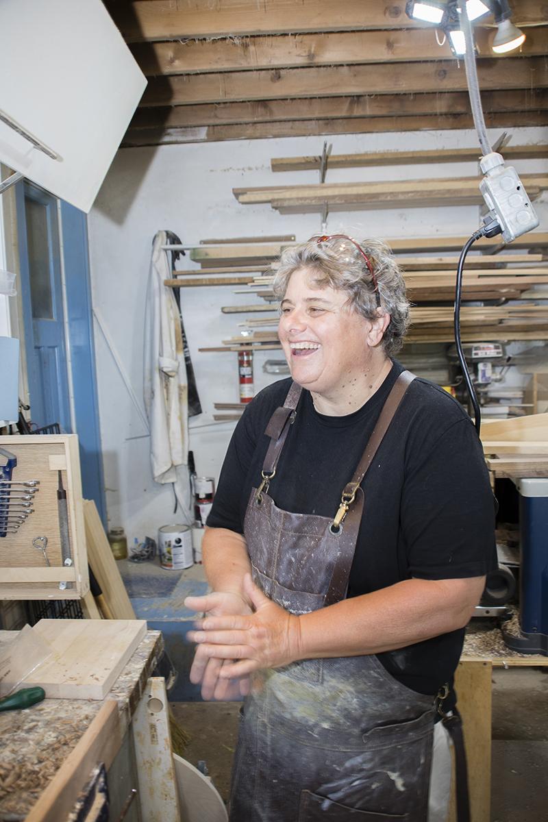 Carol Burnett in her workshop. Photo: Bruce Murray, VisionFire Studios